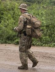 Parka con camuflaje para clima frío de uso militar